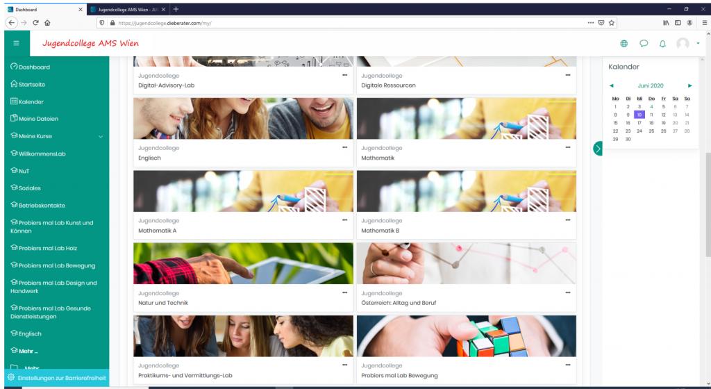 Jugendcollege AMS Wien goes online